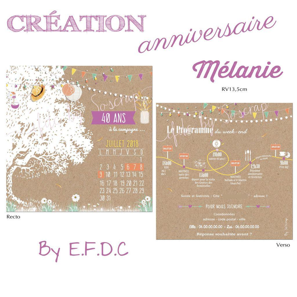 Le Blog D Efdc By So Scrap La Carte Anniversaire Des 40