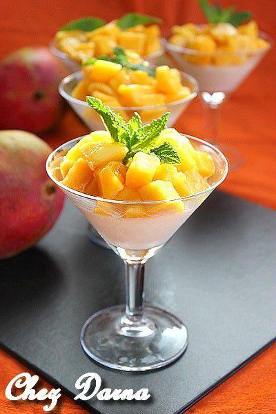 panna cotta légère à la mangue باناكوطا خفيفة بالمانجو