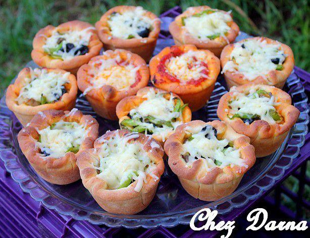 pizzas muffins المافن بيتزا