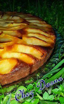 gateau aux pommes orange et confiture كيكة التفاح و البرتقال بالمربى