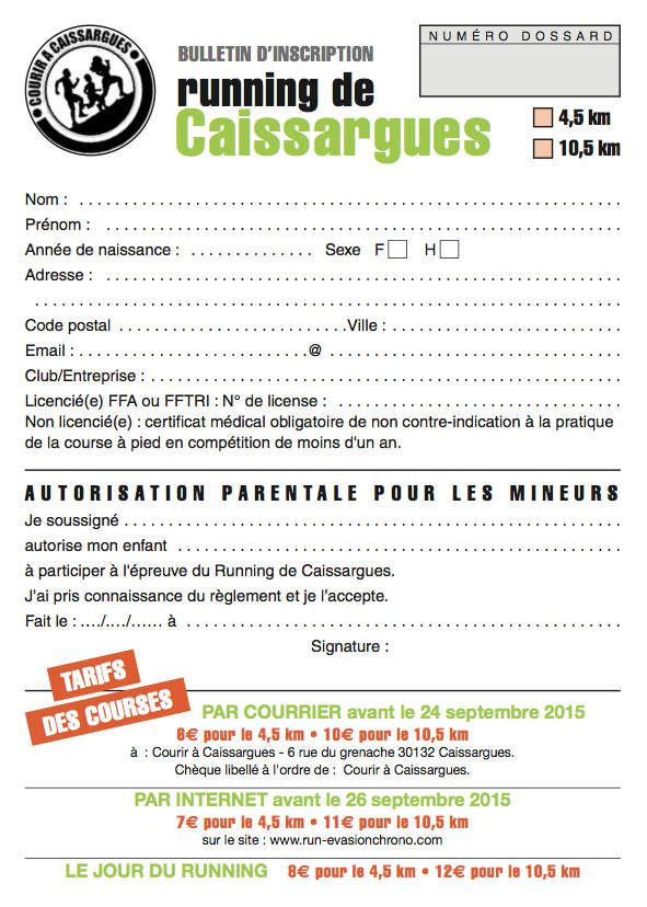 Inscriptions avant le 10 septembre par courrier.