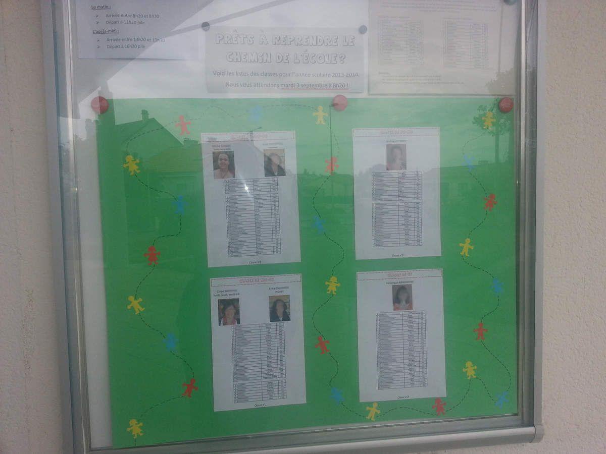 affichage des listes de rentrée
