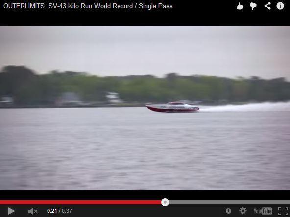 Vidéo - 290 km/h sur l'eau, record de vitesse battu !