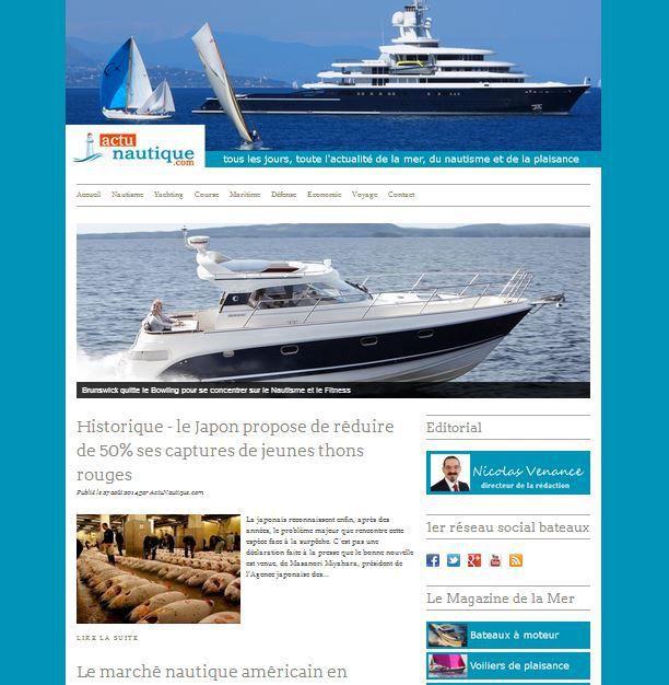 Editorial - une nouvelle version d'ActuNautique.com pour la rentrée 2014 !