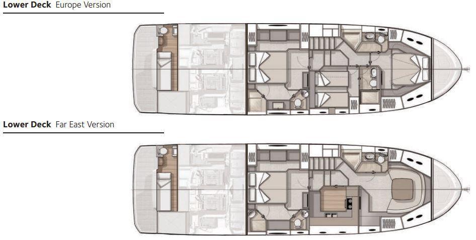Découvrez les différents aménagements possibles sur un yacht Monte Carlo MC6