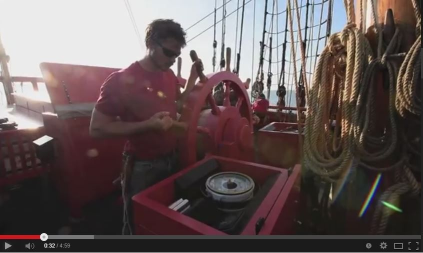 VIDEO - une journée à bord de l'Hermione