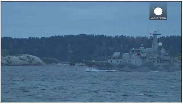 Suède - chasse au sous-marin russe dans l'archipel de Stockholm