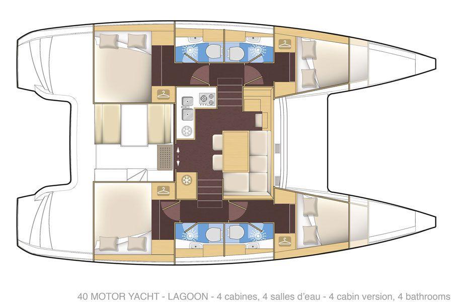 Exclusif - toutes les photos du tout nouveau Lagoon 40 Motor Yacht