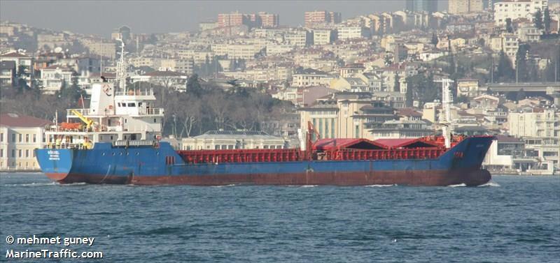 Le cargo turc Gokbel a sombré ce dimanche au large de Ravenne.