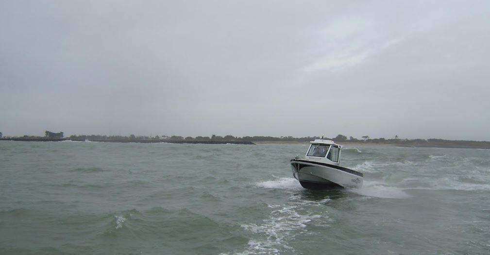 Labrax 7 - premières photos et premier essai en mer à Noirmoutier
