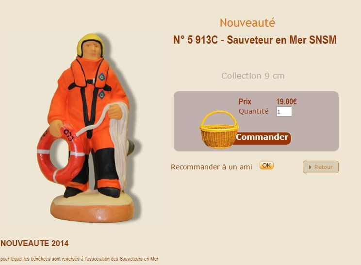 Un santon de collection pour aider les sauveteurs en mer SNSM