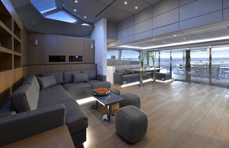 scoop sunreef innove dans l 39 am nagement int rieur des motor yachts catamarans. Black Bedroom Furniture Sets. Home Design Ideas
