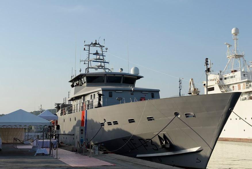 Baptême du plus grand patrouilleur maritime des Douanes françaises à Toulon (83)