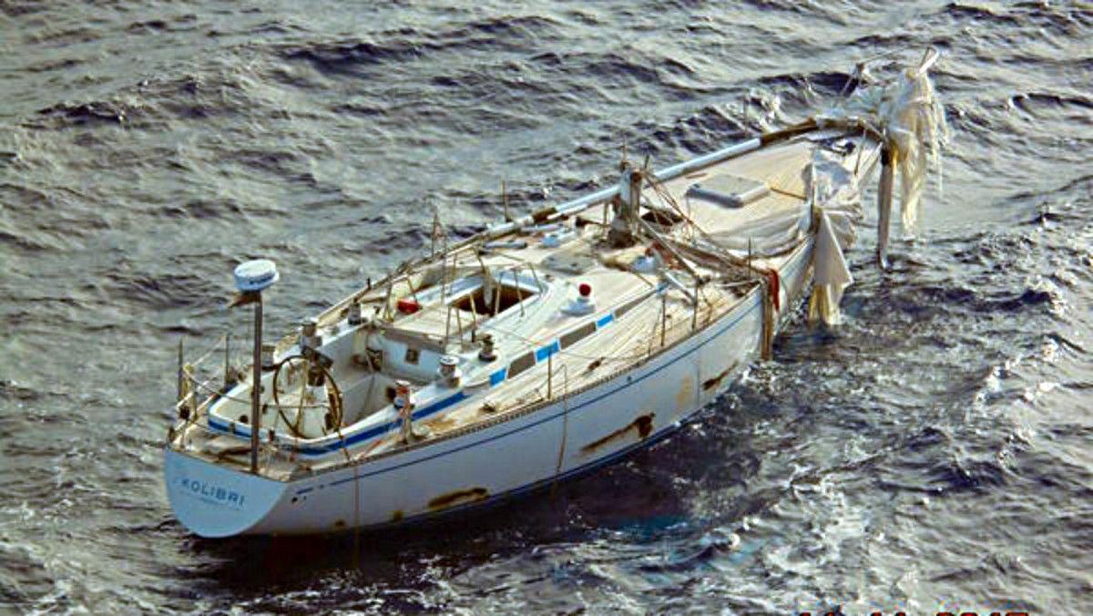 Kolibri, un Swan 44, voilier fantôme, à la dérive dans l'Atlantique