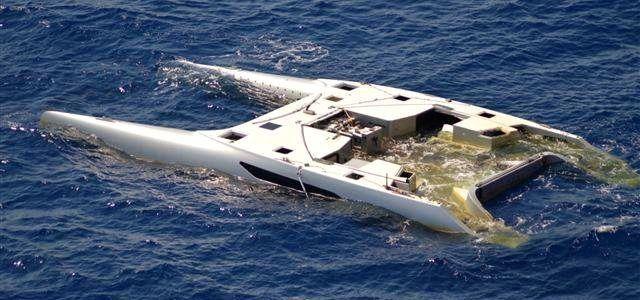 Rainmaker, le premier Gunboat 55 a démâté