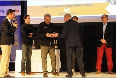 NKE reçoit le Prix de la Haute Technologie 2015 au Nautic de Paris - photo ©Fabrice Aygalenq / FFVoile