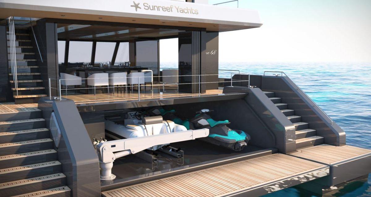 Sunreef 68 : le seul catamaran de 70 pieds offrant un garage à annexe....