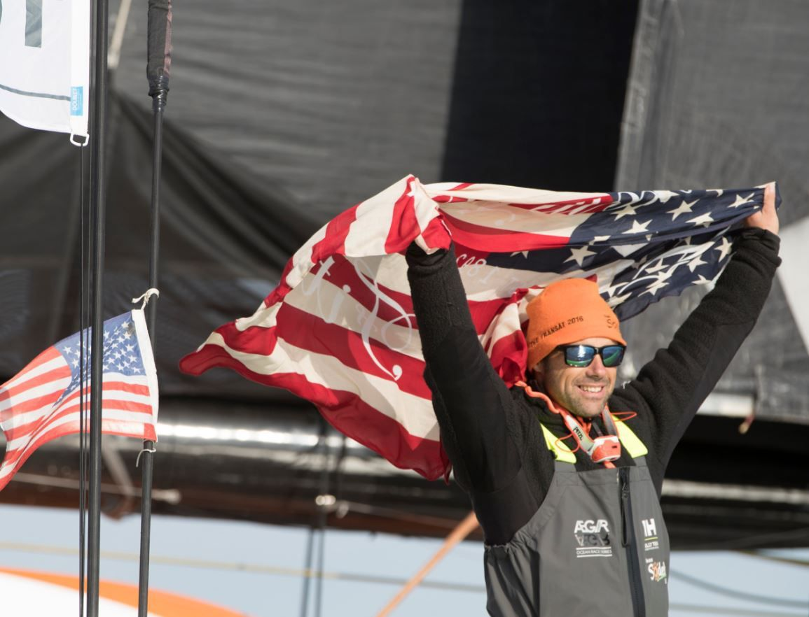 Thomas Coville, sur Sodebo Ultim', second de The Transat bakerly