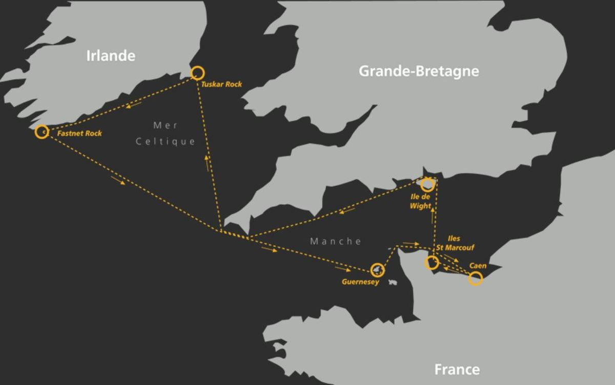 Normandy Channel Race - le parcours