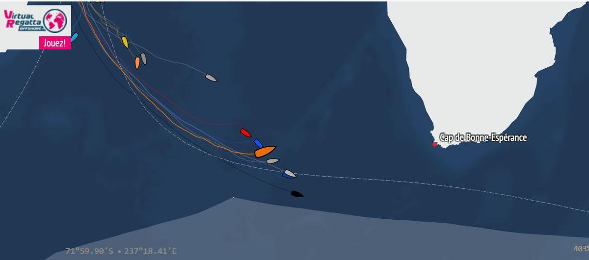 La position de PRB (en orange), à 17h32, ce 22 novembre.