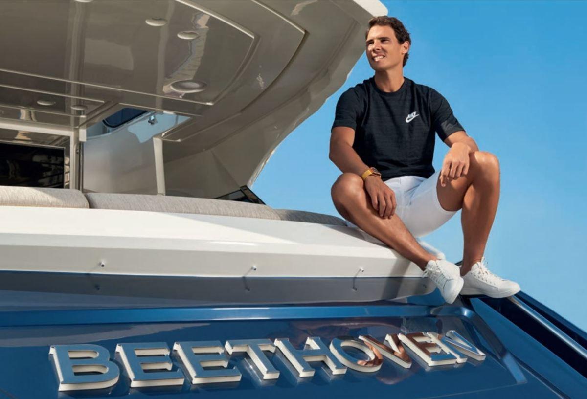 Rafael Nadal choisit un MCY 76 du chantier Monte Carlo Yachts, comme yacht personnel