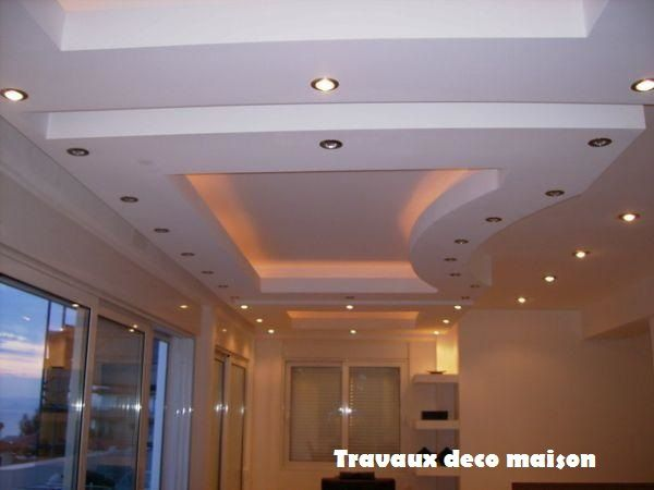 placo platre decoration salon decoration ba13 plafond