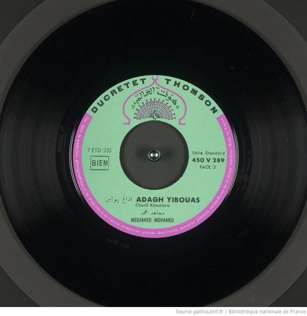 Mohamed Medjahed - Adagh Ybwas (1960), paroles et musique de Cherif Kheddam