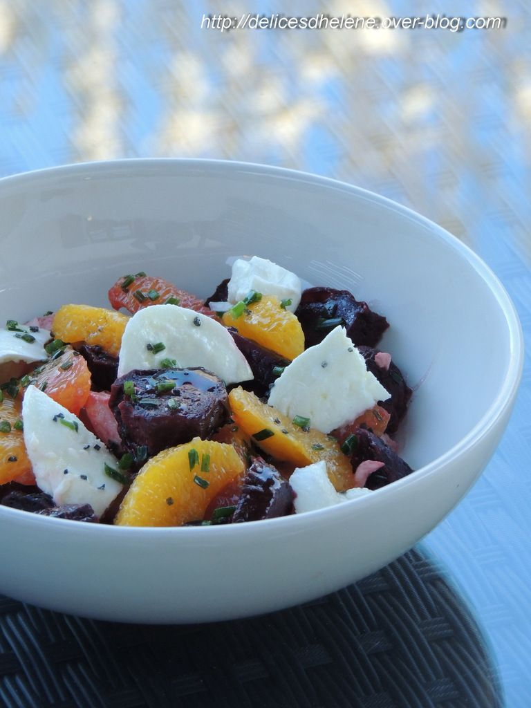 SALADE DE BETTERAVES, ORANGES ET MOZZARELLA