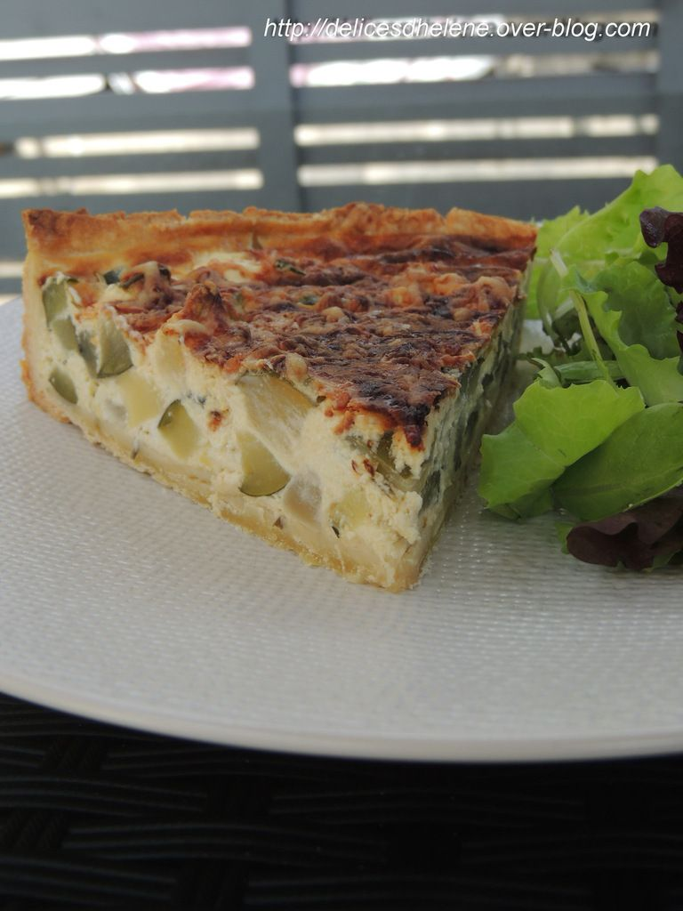 QUICHE COURGETTE, PATISSON, CHEVRE ET MIEL