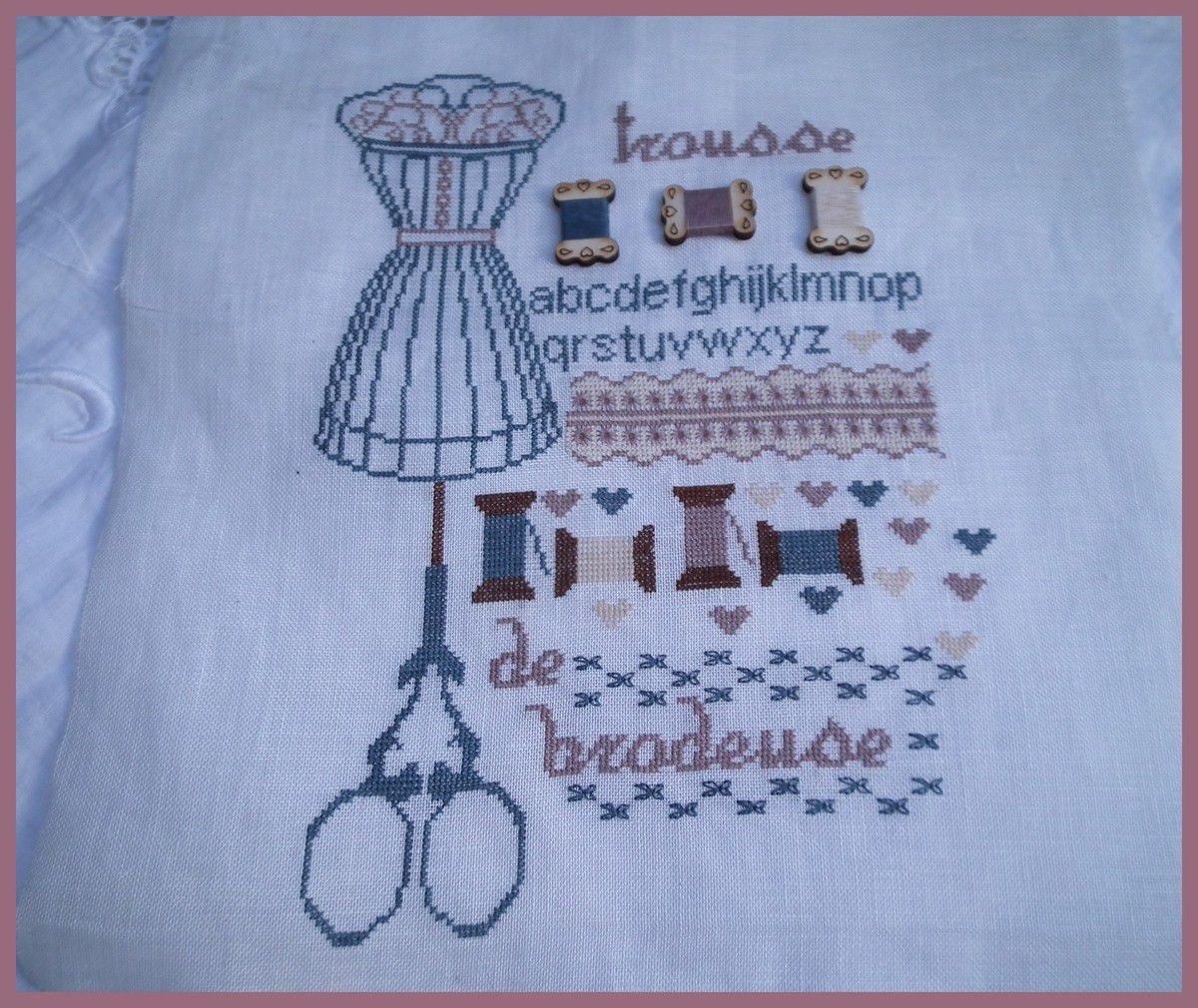 Attention Brodeuse.... broderie finie