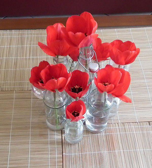 Margaux et ses fleurs - variation rouge...