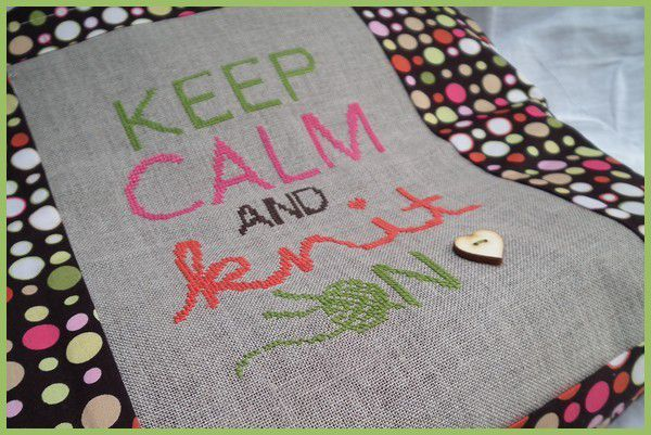 keep calm and knit on.... la finition