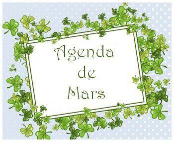 Agenda de mars