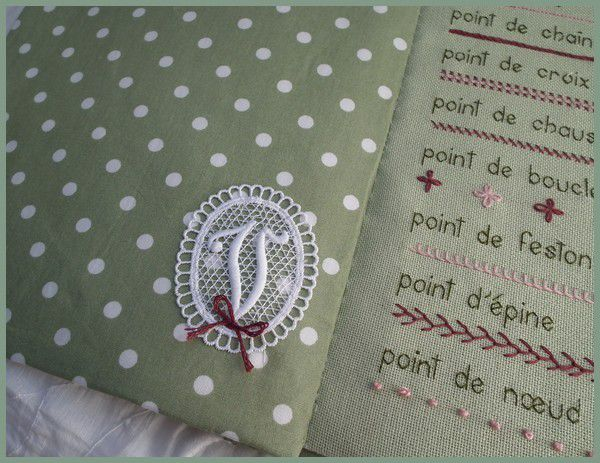 Carnet de points, finition