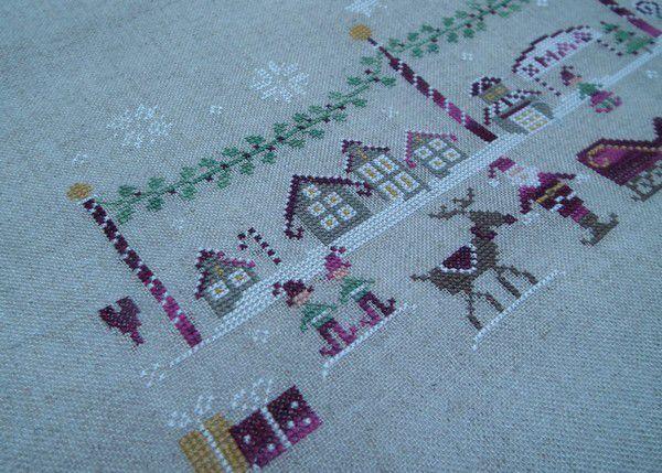 Village de Noël, c'est brodé