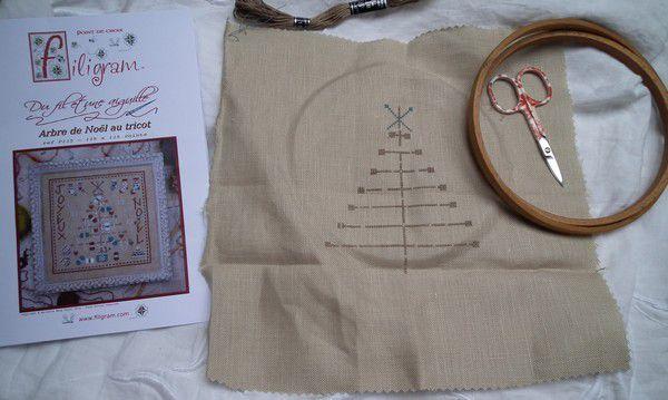 Arbre de Noël au tricot - Filigram