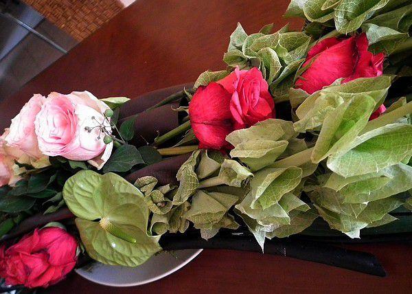 Margaux et ses fleurs... monumental !