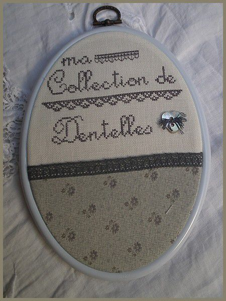 Collection de dentelles - Finition