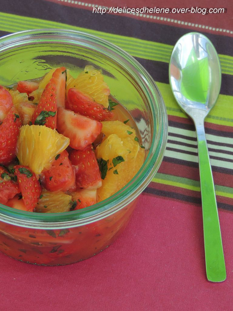 SALADE FRAISES-ORANGE