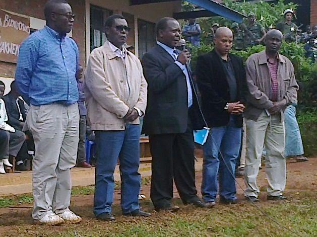 Intumwa n'abayobozi banyuranye bo mu muryango wa SADC na ONU  bafashe ijambo