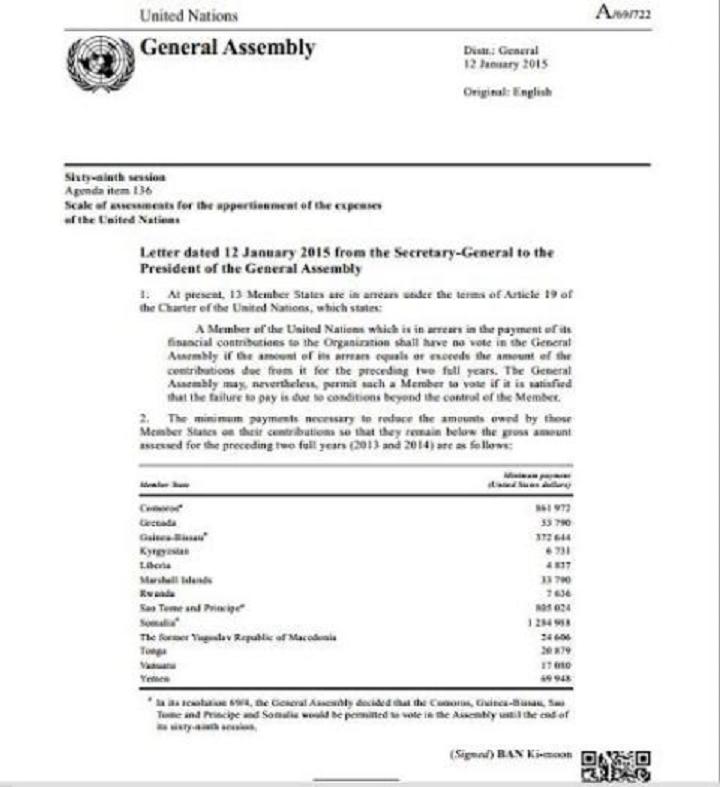 Rwanda: Umutungo w'igihugu wafashwe n'umuntu umwe kuburyo igihugu kinaniwe kwishyura LONi umusanzu wa 7636$!