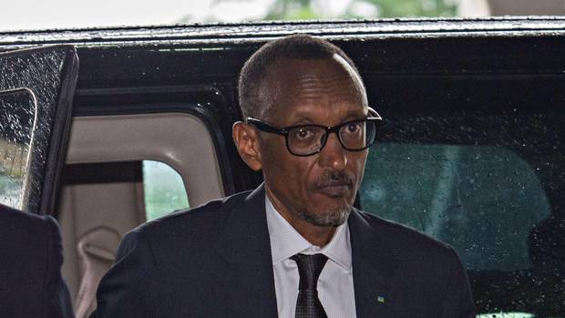 Rwandan President Paul Kagame arrives in Dar es Salaam on May 13 , 2015 for a crisis summit of East African leaders in Tanzania. (DANIEL HAYDUK/AFP/Getty Images)