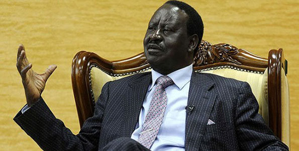 Kenya's Opposition leader Raila Odinga