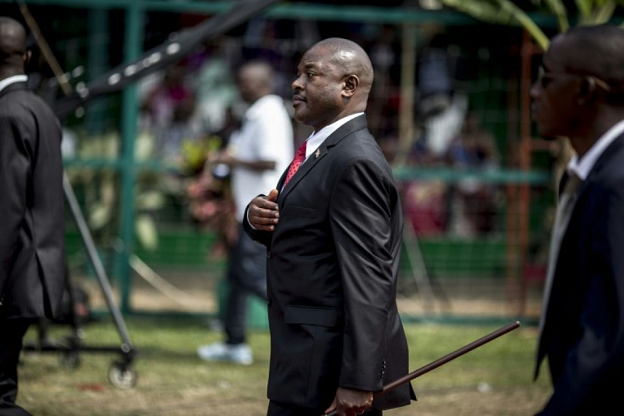 Le président burundais Pierre Nkurunziza à Bujumbura, le 1er juillet 2015