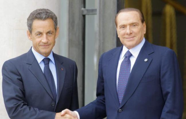 Nicolas Sarkozy et Silvio Berlusconi en 2011.