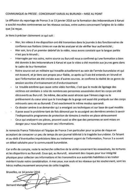 Maître Bernard Maingain aremeza ko amashusho yatanze muri ONU ku gihugu cy'u Burundi yatekinitswe !