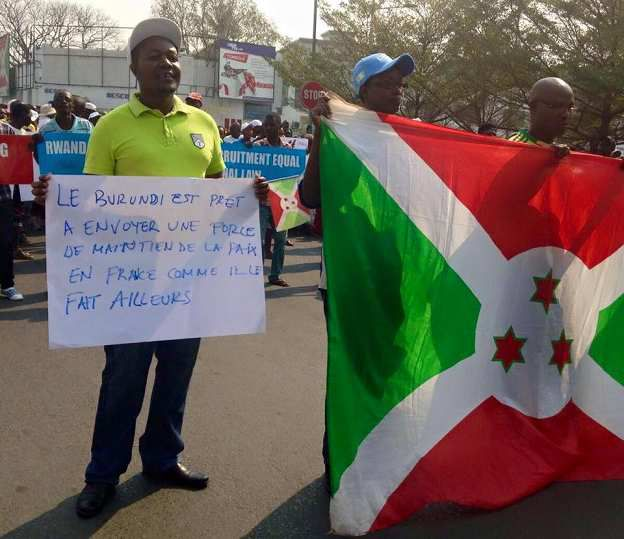 manifestation au Burundi contre la France