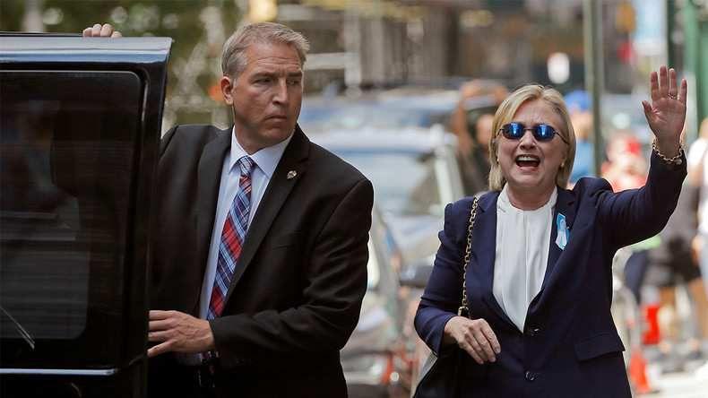 Hillary Clinton quittant le domicile new-yorkais de sa fille, Chelsea. Photo ©Reuters