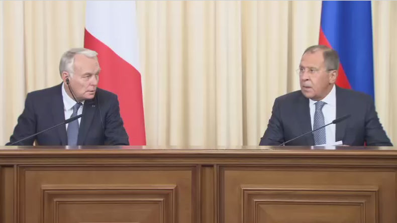 Jean-Marc Ayrault et Sergueï Lavrov à Moscou