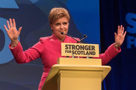 Nicola Sturgeon , le 18 Mars 2017 à Aberdeen /AFP